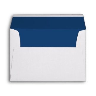 White Envelope, Dark Cobalt Blue Liner Envelope