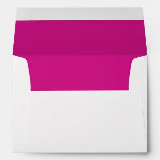 White Envelope, Fuchsia  Liner Envelopes