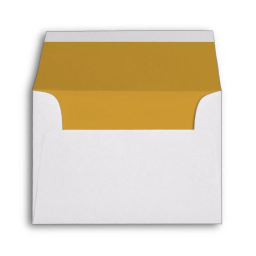 White envelope gold liner rsvp zazzle 01794 area code