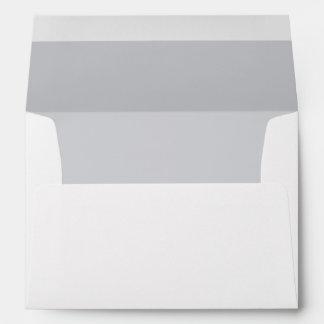White Envelope, Light Gray / Silver Lined Envelope