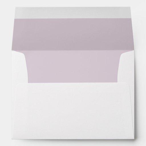 White Envelope, Light Rose Pink Liner