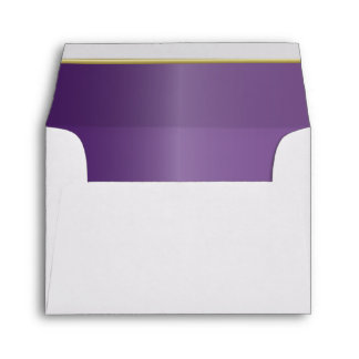 White Envelope Lined with a Jewel Amethyst Purple