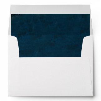 White envelope - Midnight Blue lined
