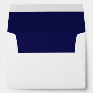White Envelope, Navy Liner Envelopes