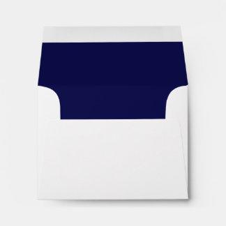 White Envelope, Navy Liner RSVP Envelope