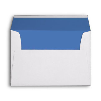 White Envelope, Pale Sapphire Blue Lined Envelope
