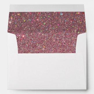 White Envelope, Pink Glitter Lined Envelopes