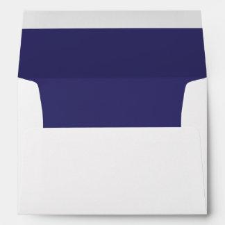 White Envelope, Purple Indigo Lined Envelope