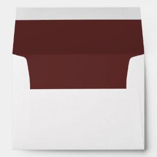 White Envelope, Raisin Brown Lined