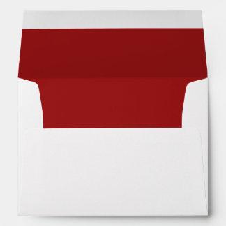 White Envelope, Red Lined Envelope