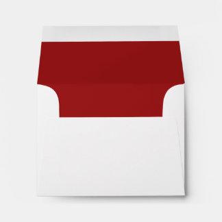 White Envelope, Red Liner RSVP Envelope