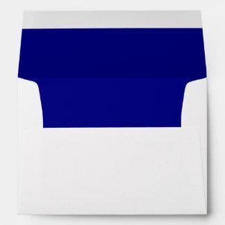 White Envelope, Royal Blue Liner Envelope