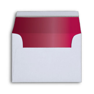 White Envelope - Ruby Red Lined with Silver Bar