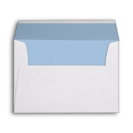 White Envelope, Sky Blue Liner