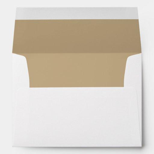 White Envelope, Tan Sand Lined