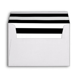 White Envelope with Black and White Stripes