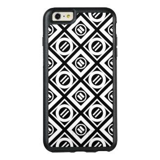 White Equal Sign Diamond Pattern on Black OtterBox iPhone 6/6s Plus Case