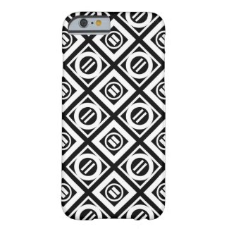 White Equal Sign Geometric Pattern on Black Barely There iPhone 6 Case