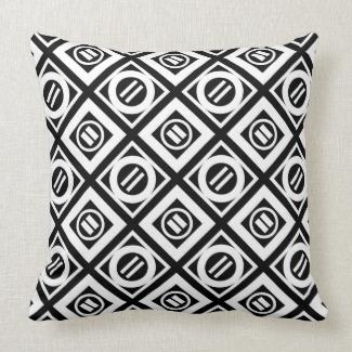White Equal Sign Geometric Pattern on Black