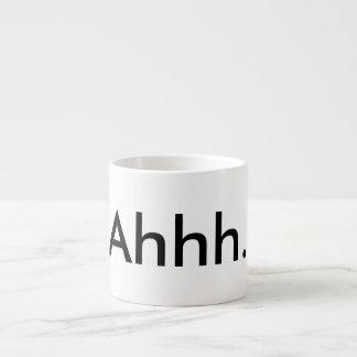 """White espresso """"ahhh"""" mug. espresso cup"""