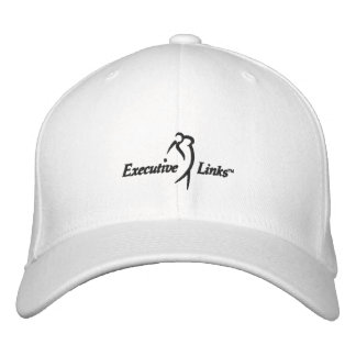 White Executive Links Fitted Hat Baseball Cap