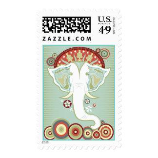 White Exotic Elephant Postage