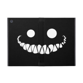 white eyes and teeth on black background covers for iPad mini