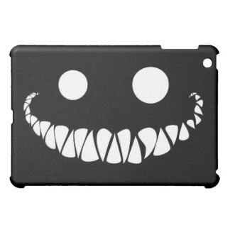 white eyes and teeth on black background iPad mini covers