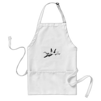 White F/A-18 Hornet Fighter Jet Adult Apron