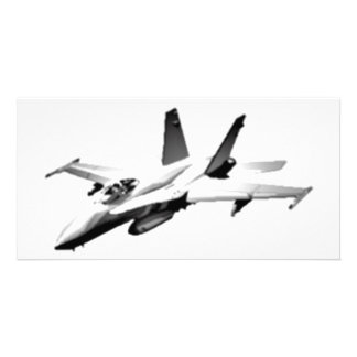 White F/A-18 Hornet Fighter Jet Photo Card