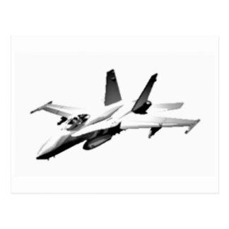 White F/A-18 Hornet Fighter Jet Postcard