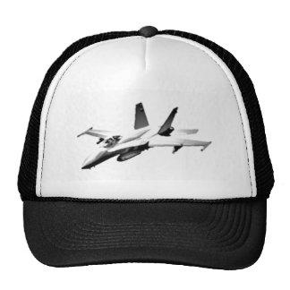 White F/A-18 Hornet Fighter Jet Trucker Hat