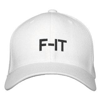 white  F-IT hat