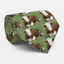 White Face Cow Necktie