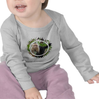 White Faced Capuccin Monkey Infant Tshirts