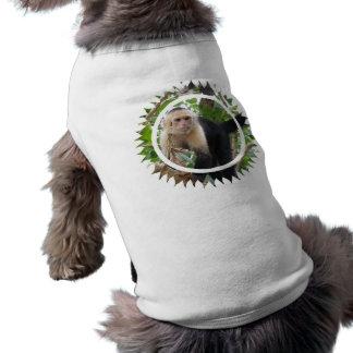 White Faced Capuccin Monkey Pet Shirt