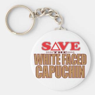 White Faced Capuchin Save Keychain