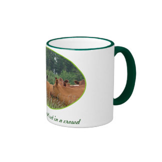 White Faced Cow with Red Cows Ringer Mug