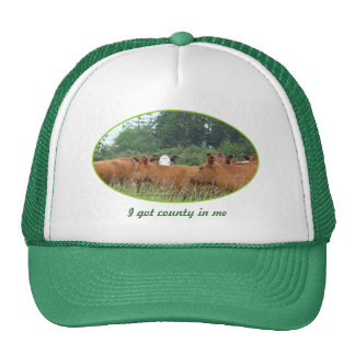 White Faced Cow with Red Cows Trucker Hat