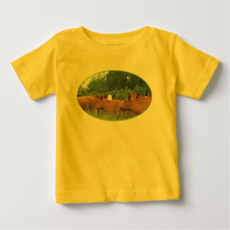 White Faced Cow with Red Cows Tshirt