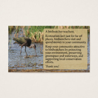 White-faced ibis Calling Card
