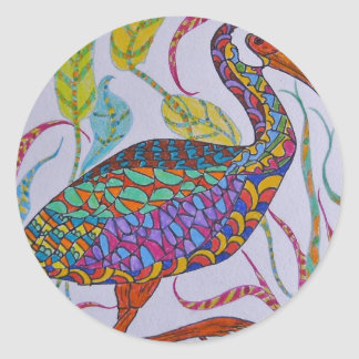 White-faced Ibis Classic Round Sticker