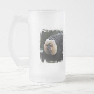 White Faced Saki Monkey Frosted Mug