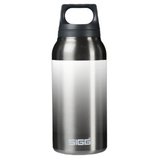 White Fade on Black Insulated Water Bottle