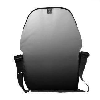 White Fade on Black Messenger Bag
