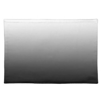 White Fade on Black Placemat