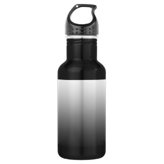 White Fade on Black Stainless Steel Water Bottle