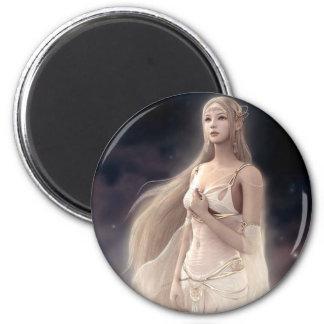 White Fairy 2 Inch Round Magnet