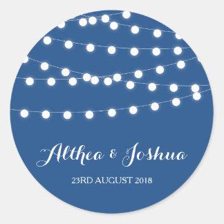 White Fairy Lights | Blue Wedding Stickers