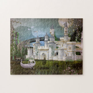 White Fairytale Castle and Swan Boat Puzzle